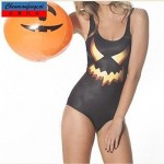 Nzswimwear®Women's Sexy Halloween Elasticated Swimwear Nz Sexy Print Bodycon Jumpsuit