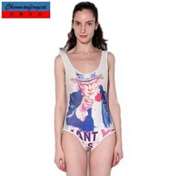 Nzswimwear®Women's Jumpsuit Elasticated Sexy US President Bodycon Print Swimwear Nz Hot Lady's Top Wear One Piece