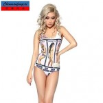 Nzswimwear®Women's Sexy Elasticated Bathing Suit Pin Up Girls Print Bodycon Jumpsuit One Piece