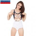 Nzswimwear®Women's Sexy Swimwear Nz Cat Printed Bodycon Jumpsuit Hot Bikini One Piece Top
