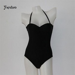 Women Nylon/Polyester Racerback Halter One-pieces