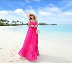Nzswimwear® Woman's V-neck backless Bohemian dress that snow spins condole to show thin seaside holiday Beach Dress
