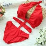 Shaperdiva Women's Sexy Sport Triangle One Piece Bandage Swimwear Nz Swimsuit Nz
