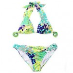 Nzswimwear Women Greenish Yellow Floral Classic Cut Bottom Bikinis Swimwear Nz
