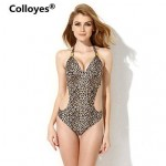 Nzswimwear Women Leopard Print One-piece Cut-out Side Bikinis Swimwear Nz
