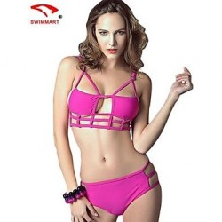Women Nylon/Polyester/Spandex Wireless/Padded Bras Halter Bikinis/Tankinis/Swimming Accessories/Cover-Ups SMZM06