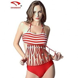 Women Nylon/Polyester/Spandex Push-up/Wireless/Padded Bras Halter Bikinis/Tankinis/Swimming Accessories/Cover-Ups SMZM08