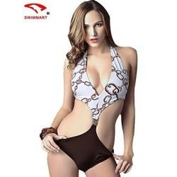 Women Nylon/Polyester/Spandex Wireless/Padded Bras Halter Bikinis/Tankinis/Cover-Ups SMZM09
