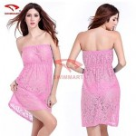 Women Sexy Beach Lace Bandeau One-pieces/Cover-Ups