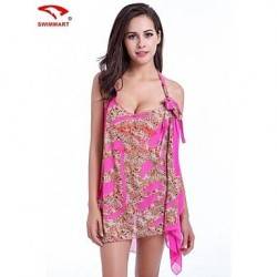 Women Multi-way Polyester/Spandex Halter/Bandeau Swimming Accessories/Cover-Ups