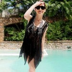 Women Polyester/Roman Knit Halter Swimming Accessories/Cover-Ups MSSY14