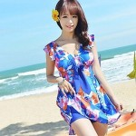 Fashion cute butterfly flower skirt swimsuit woman obesity