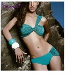 Women's Push-up/Underwire Bra/Padless Bra High Rise/Solid/Bandage Halter Bikinis (Nylon/Spandex)