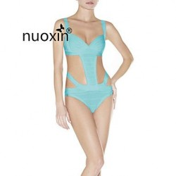 Women's Solid/Bandage Straped Bikinis (Nylon/Others/Viscose)