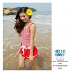 Woman fashion cute striped skirt swimming clothes