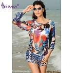 syu®Women's Padless Bra Floral Straped Cover-Ups swimsuit (Polyester/Spandex)
