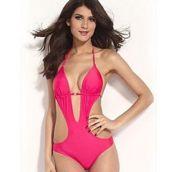 Women Polyester Push-up Halter Bikinis/One-pieces/Cover-Ups MSSY57