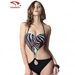 Women Nylon/Polyester/Spandex Wireless/Padded Bras Halter Bikinis/One-pieces/Cover-Ups SMZM02