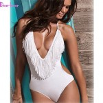 Women's Push-up/Wireless/Padded Bras Tassels/Solid/Bandage Halter One-pieces (Polyester/Spandex)