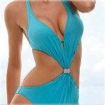 Women's Push-up/Underwire Bra/Padless Bra Solid/Bandage Halter One-pieces (Polyester/Spandex)