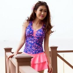 Women's Bra Style Neckline Printed Swimwear Nz