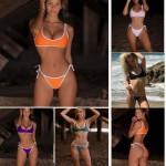 Multicolour Ties Two Piece Swimsuit Bikini
