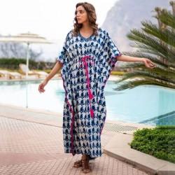 Beach Dress Loose Plus Size Long Dress Bikini Swimwear Beach Cover Up Sun Protective Shirt WomenS