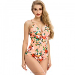 Printing One Piece Sexy Swimsuits For Big Girls Plus Size Fat WomenS One Piece Swimwear