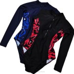 Plus Size WomenS Swimwear Race Sport Long Sleeves Diving Suit Surfing Fat Sun Protective Swimsuits