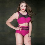 WomenS Swimwear Swimsuits For Big Girls Plus Size Swimwear Tulle Two Piece Steel Ring High Waist Pure Colour WomenS Swimsuits
