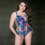WomenS Swimwear Steel Ring Floral One Piece Swimsuits For Big Girls Plus Size Swimwear WomenS