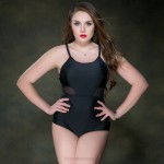 Sexy Swimsuits For Big Girls Plus Size Swimwear Pure Colour Tulle One Piece WomenS Swimwear
