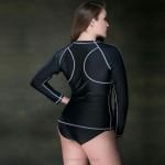 Plus Size WomenS Swimwear Top Race Sport Long Sleeves Diving Suit Surfing