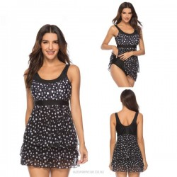 Beach Tulle Dots Dress Two Piece Swimwear