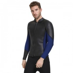 Man Two Piece Long Sleeves 3Mm Diving Suit Man Waterproof Warm Winter Swimming Diving Suit Swimwear