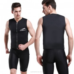 Zipper Surfing Diving Suit 3Mm Sleeves Snorkeling Suit Warm Vest Cold Proof Winter Swimming Man Womens Two Piece Swimwear