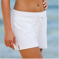 Summer Flat Angle Swimming Trunks Womens Hot Spring Lace Up Plus Size Pants Swimming Trunks