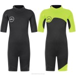 2Mm Diving Suit Short Sleeve One Piece Warm Sun Protective Children Diving Suit Swimwear Man Womens