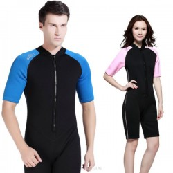 Short Sleeve Swimwear Couples Sun Protective Surfing Jellyfish Suit Warm 2Mm Diving Suit