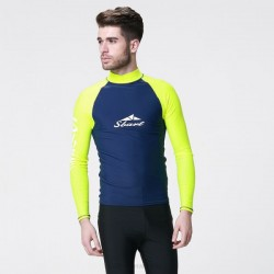 Adult Man Long Sleeves Diving Suit Sun Protective Prevention Of Jellyfish Two Piece Wetsuit