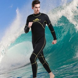 3Mm Surfing Diving Suit Swimwear Long Sleeves Dive Skin One Piece Swimwear Man Thicken Snorkeling Suit