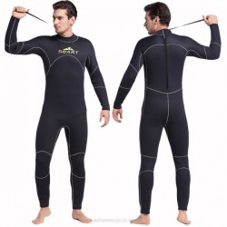 5Mm Rubber Man Diving Suit Sun Protective Surfing Snorkeling Suit Warm Winter Swimming Long Sleeves One Piece Swimwear Thicken Jellyfish Suit