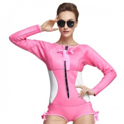 One Piece Long Sleeves 2Mm Diving Suit Womens Jellyfish Suit Snorkeling Suit Warm Sun Protective 946