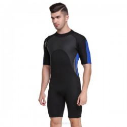 2Mm Thicken Warm Swimwear Wetsuit Snorkeling Suit Short Sleeve One Piece Diving Suit Dive Skin