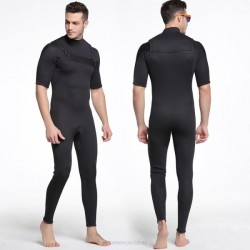 3Mm Thicken Warm Diving Suit Man Sun Protective Dive Skin Short Sleeve One Piece Swimwear