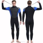 3Mm Rubber Diving Suit Warm Winter Swimming Long Sleeves One Piece Swimwear Thicken Dive Skin Surfing Suit