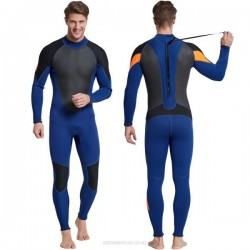 3Mm One Piece Thicken Diving Suit Plus Size Long Sleeves Long Pants Man Swimwear