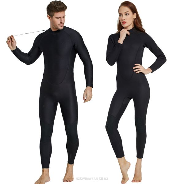 2Mm Diving Suit Thicken Warm Long Sleeves One Piece Swimwear Cold Proof Surfing Couples Diving Suit