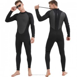 Winter Swimming 3Mm One Piece Diving Suit Warm Cold Proof Long Sleeves Long Pants Swimwear