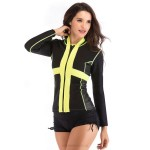 2Mm Rubber Diving Suit Womens Long Sleeves Two Piece Swimwear Elastic Womens Surf Suit